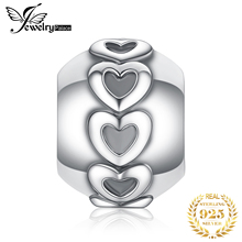 JewelryPalace Heart 925 Sterling Silver Beads Charms Original For Bracelet original Jewelry Making