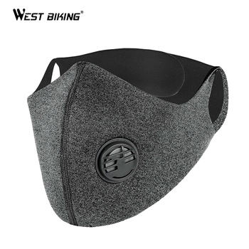 WEST BIKING Cycling Masks PM2.5 Anti Pollution Sport Face Mask Cycling Bike Bicycle Activated Carbon Protective Mask With Filter