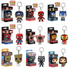 FUNKO POP Superhero Keychain Spider Man Iron Man Black Panther Batman Deadpool Pendant Chain Action Figure Toys for Kids Gifts 1