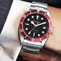 PARNIS роскошные мужские наручные часы с календарем окно сапфировое стекло 41 мм Серебристый футляр для часов автоматическое движение мужчин t