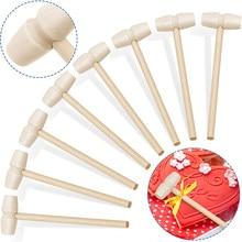 1 pçs mini martelos de madeira para o chocolate para o chocolate quebrável coração brinquedo maletes para crianças artesanato e festa jogo adereços