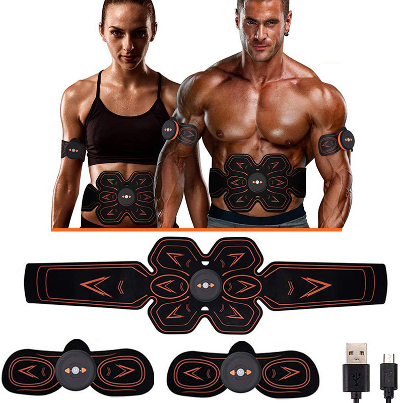 Muscle Stimulator Abdominal Musculaire Electrostimulation Electro Stimulateur ABS EMS Home Gym Belly Arm Leg Massage USB Charged