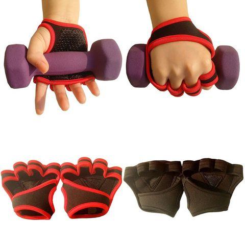 Luvas de Treinamento de Peso Aperto para Remo Puxar para Cima Par de Levantamento de Peso Treino Crossfit Fitness Ginásio Mãos Protetor 1