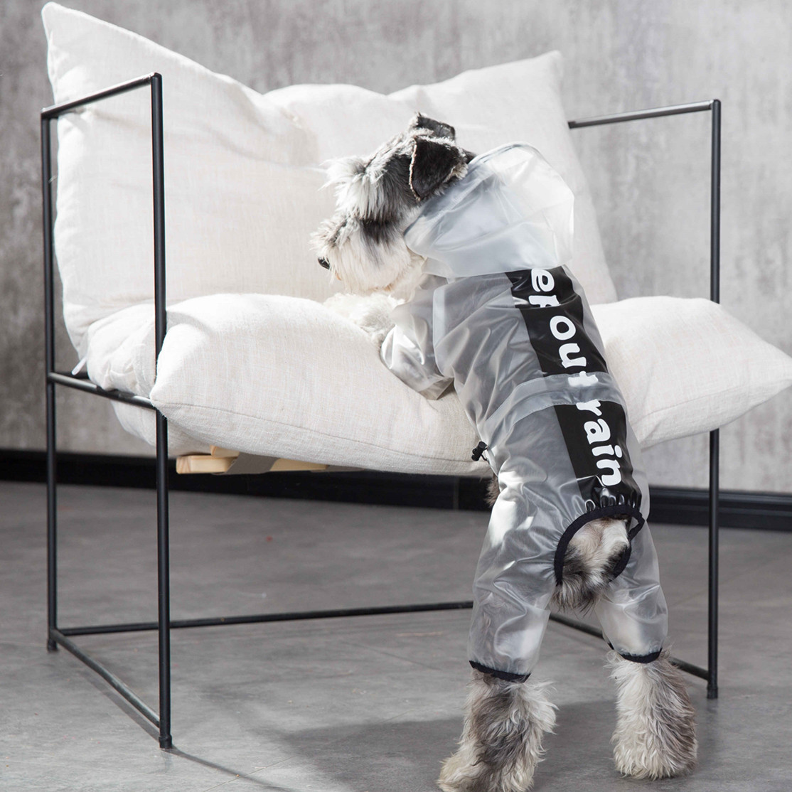 Dog Raincoat Hooded Rain Suit For Dog Translucent Raincoat Dog Raincoat Hood For Small Dogs Chihuahua Yorkshire