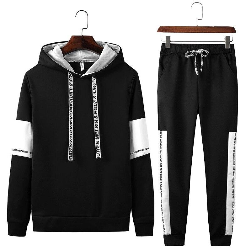 2018 Autumn New Style Men'S Wear Fashion & Sports Set Two-Piece Set Korean-style Men Casual Hoodie Suit