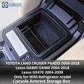 Подлокотник для хранения для Toyota Land Cruiser Prado FJ 150 2004-2019 Lexus GX400 460 04-2018/GX470 04-2009 консоль Органайзер лоток