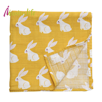 Fashion New Luxury Baby Infant Blanket 100% Organic Cotton Newborn Baby Wrap Organic cotton blanket 120*120cm