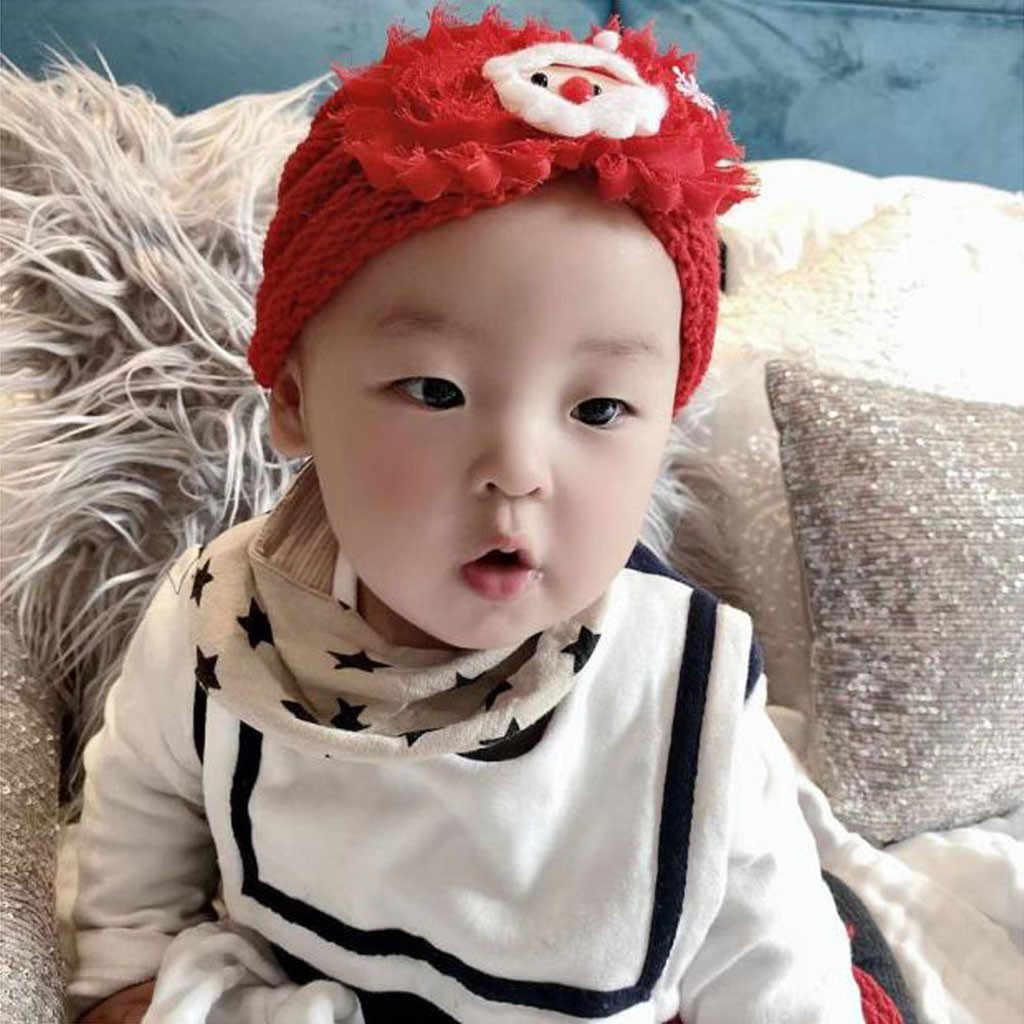 Nowonarodzone dziecko chłopiec dziewczyna dzianiny koralik kapelusz boże narodzenie Beanie nakrycia głowy czapka szydełka kid Cap pluszowa czapka nauszniki dzieci cap # E20