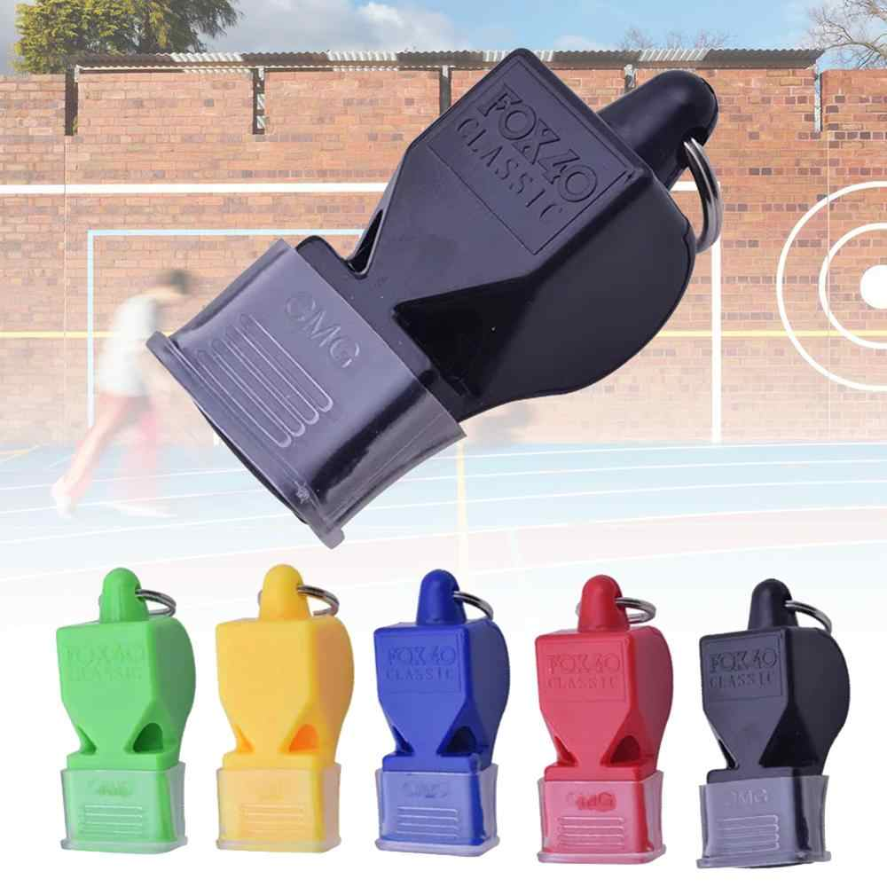 Football Soccer Sports Referee Plastic Whistle Lanyard Emergency Loud @ami LwUaP