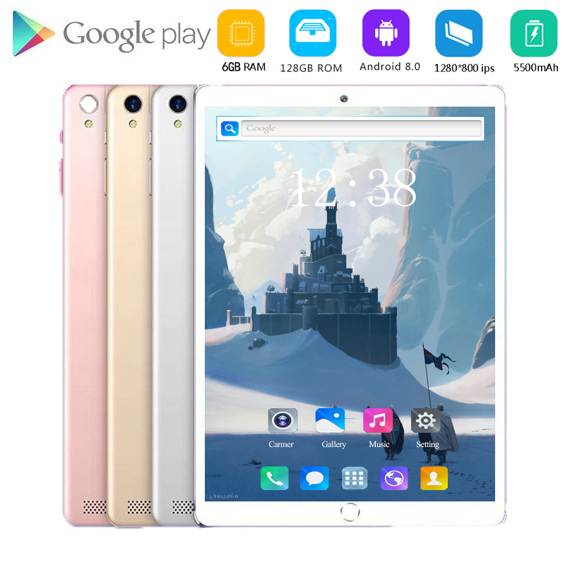2020 Android 8.0 Tablet Pcs 10.1 Inch 4G LET FDD Phone Tablet PC Octa Core RAM 6GB ROM 128GB Tablets 10 Kids Tablet FM GPS