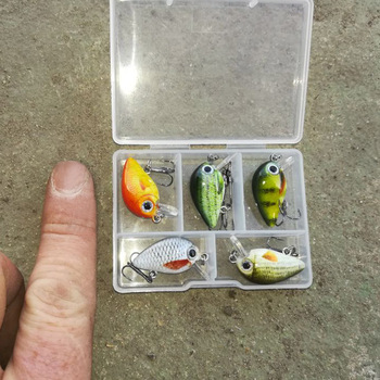 TREHOOK 5pcs 1.5g 3cm Mini Wobblers/Crankbait Fishing Lure Artificial Bait Hard Floating Wobbler for Fish Bass Fishing Tackle 1