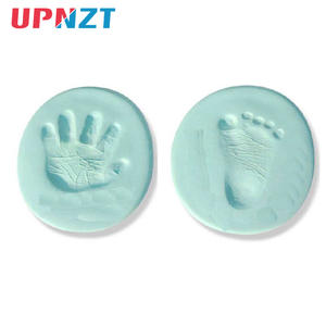 Footprint-Imprint-Kit Hand-Inkpad Casting Baby Diy-Toys Soft-Clay 20g Air-Drying Parent-Child