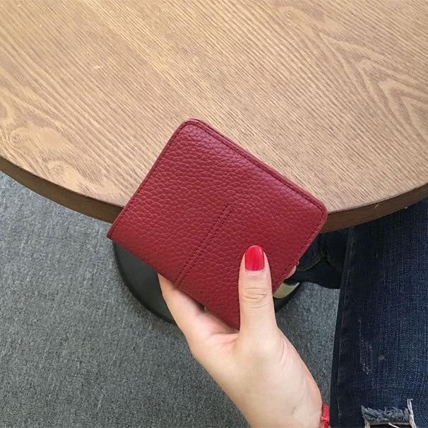 Short wallet women leather…