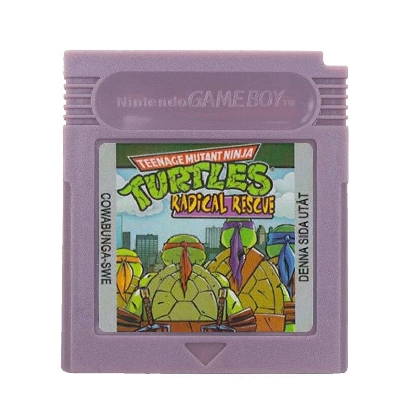 For Nintendo GBC Video Game Cartridge Console Card Teenage Mutant Ninja Turtles Radical Rescve English Language Version