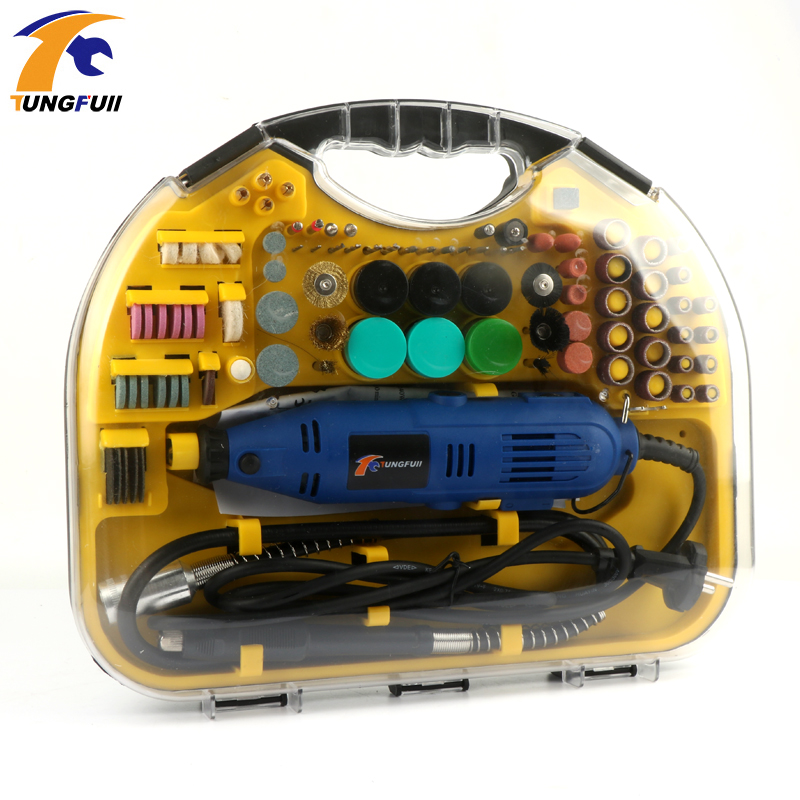 110V/220V Drill Grinder Rotary Tools Kit Set For <font><b>Dremel</b></font> 3000 <font><b>4000</b></font> Hand Mini Drill Machine Drilling Polishing Power Tool image