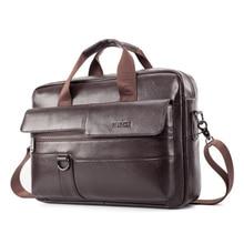 Мужская сумка из натуральной кожи, деловой портфель, модные брендовые кожаные сумки для ноутбука, мужские сумки на плечо для компьютера, кожаный портфель s