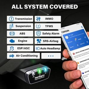 Image 2 - TOPDON SmartDiag מיני Bluetooth 5 משלוח תוכנות רכב אבחון כלי רכב סורק אוטומטי סריקה כל מערכת PK Thinkdiag מיני