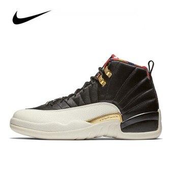 Original Nike Air Jordan 12 CNY GS Men's Jordan Shoes Basketball Shoes High-top Jordan Shoes Women Sneakers Unisex  BQ6497-006