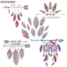 ZOTOONE Iron on Transfer Colorful Dreamcatcher Pathes for Clothing Heat Transfers Print T-shirt Dresses Washable Stickers E