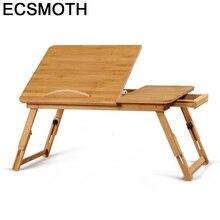 Stand Escritorio Mueble Bed Schreibtisch Tafelkleed Lap Adjustable Standing Bambu Bedside Mesa Study Table Computer Desk