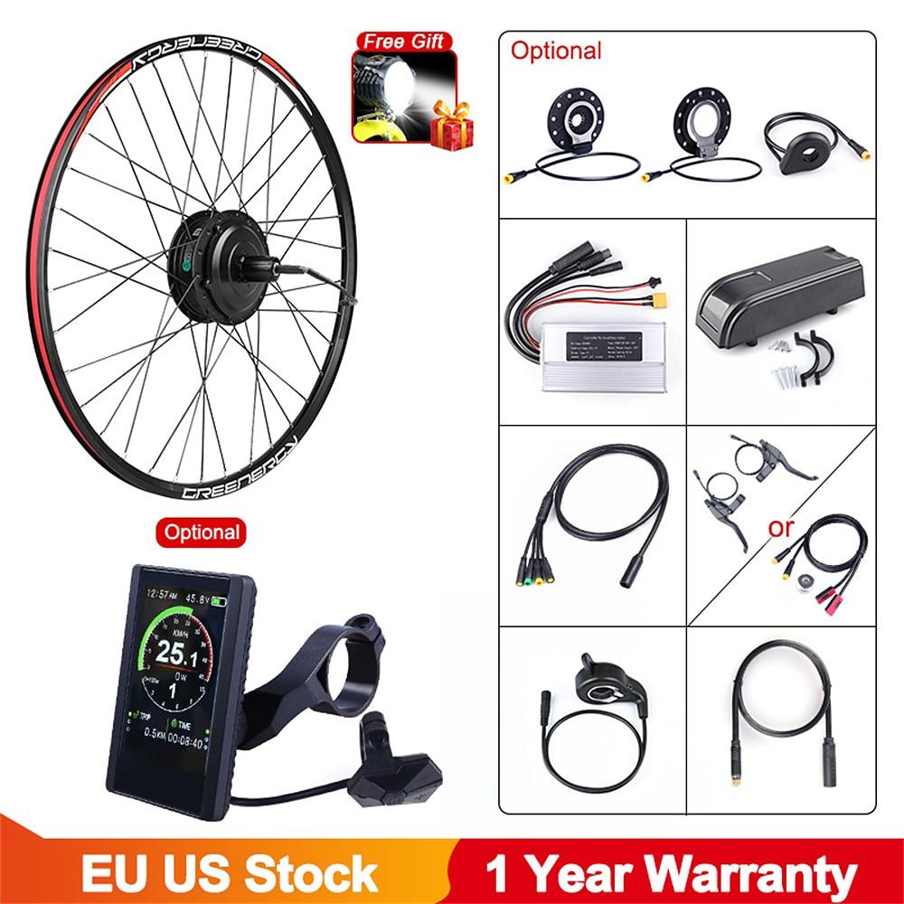 Bafang 48V 500W bicicleta eléctrica de Hub Motor trasero rueda eBike Kit de conversión para Cassette del volante del Motor e-Kit de bicicleta