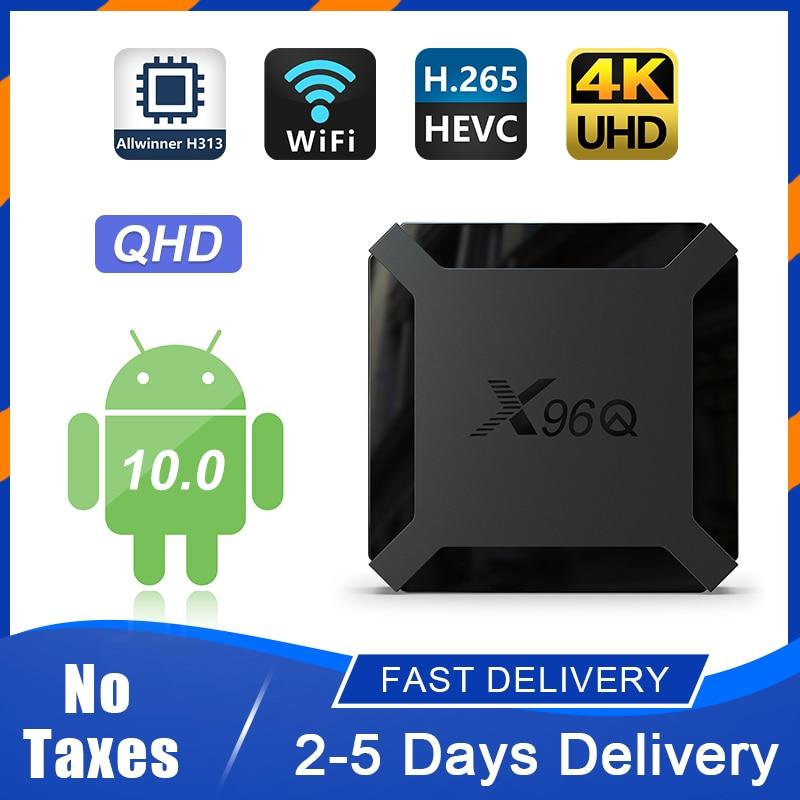 Android X96Q TV Box 10 0 QHD smart TV media player support 4K QHD UHD FHD update version 1G 8G 2G 16G X96Q Android TV box no app