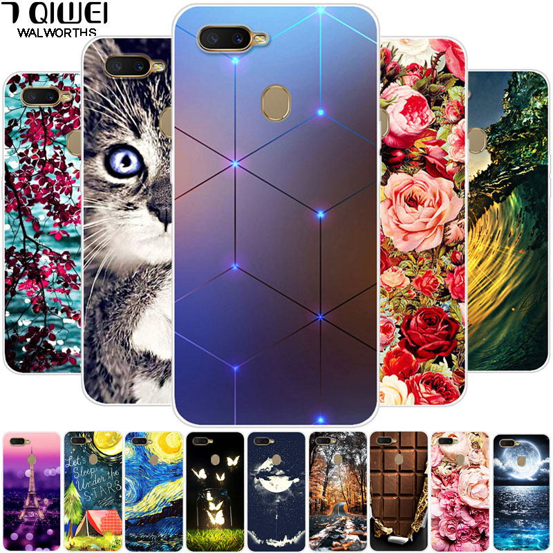 Silicone Cases For OPPO A5S Case OPPOA5S Soft TPU Back Cover For OPPO A5S CPH1909 CPH 1909 Capas For OPPO AX5S OPPOAX5S Coque