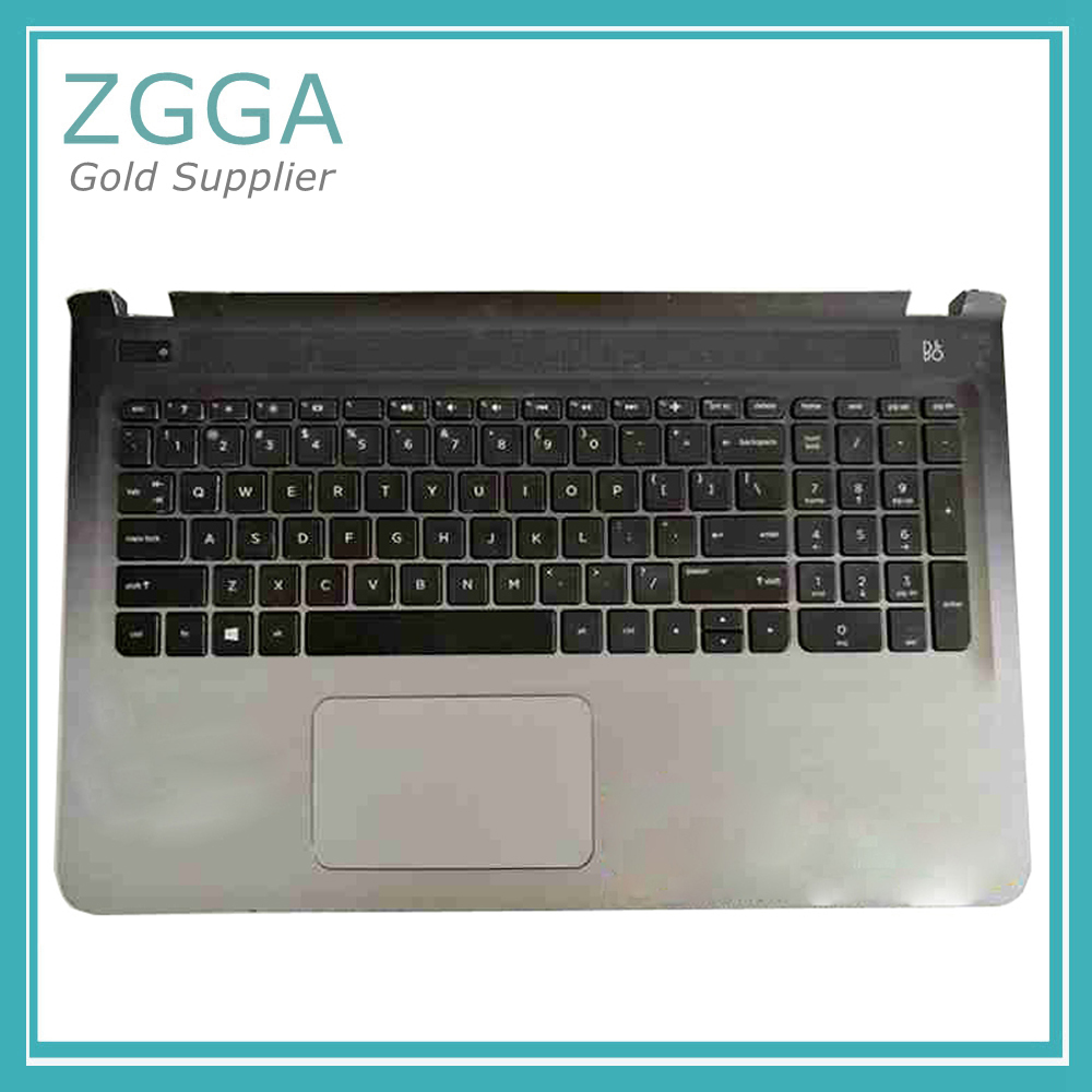 96%New Laptop Palmrest Top Case for <font><b>HP</b></font> Pavilion 15-AB <font><b>15AB</b></font> 15-ab065tx ab297TX US Keyboard Upper Cover Touchpad image
