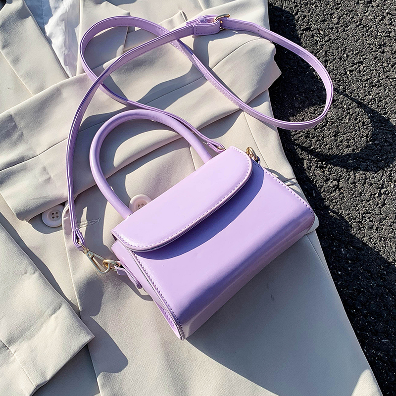 Small PU Leather Crossbody Bags For Women 2020 Summer Solid Color Elegant Shoulder Handbags Female Travel Tote Bag