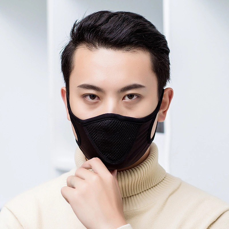 Non-Disposiable Potable Masks Black Breathable Soft For Home/ Office/Outdoor UseMask