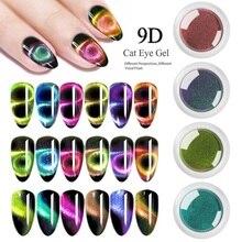Блеск для ногтей 9D кошачий глаз цветной волшебный зеркальный порошок «волшебное зеркало» серебряный порошок для ногтей