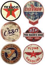 6x adesivo olio Vintage STP Vintage retrò Racing Hotrod USA V8 adesivi Tuning auto per forniture per ufficio di auto, camper, camion, Laptop