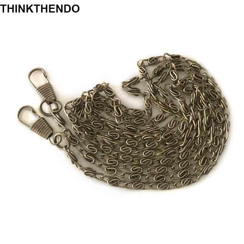 120cm Metal Chain For Handbag Shoulder Bag Delicate Purse Handle With 2 Buckles