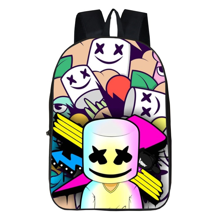 Cotton Candy Marshmello School Bag European And American-Style Related Backpack Student Backpack Burden Relieving Wearable A Gen