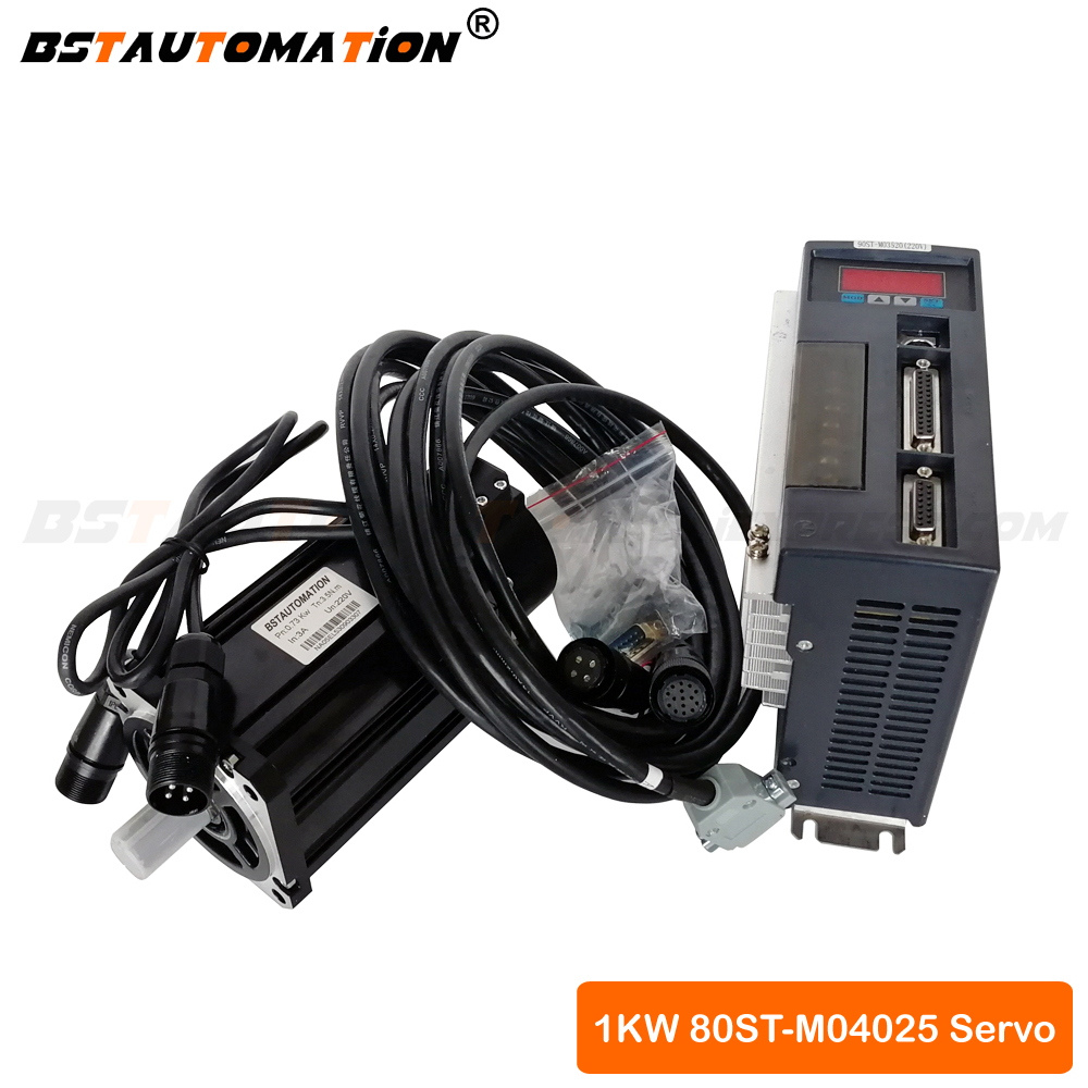 80ST-M04025 1KW 1000W 4N.M AC Servo Motor Driver CNC Matched Servo Motor for Servo System for cnc router spindle motor