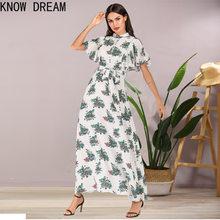 Knowdream womens vestidos formais chiffon impresso gola fina ajuste vestido de saia longa plus size vestido de dama de honra
