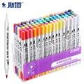 STA 12/24/36/48/80 цвета маркеры  ручки  двойные кончики  художественные маркеры  акварельные кисти  набор маркеров  кончик тонкой подводки для рисо...