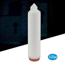 """Плиссированный фильтрующий картридж Parker 10 """", 0,22 микрон, 226 дизайн o ring и байонет, полипропиленовый материал micro fiber media"""