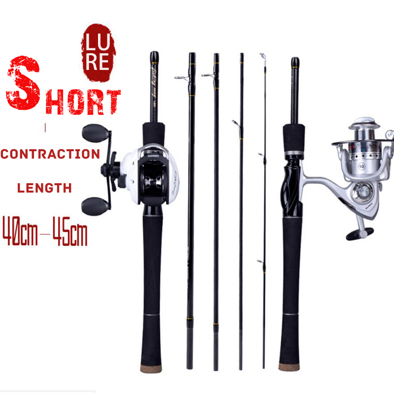 Spinning Fishing Rod 4 Sections ML Power Casting Fishing Rods Soft Solid Carbon 1.8m/2.1m/2.4m Travel Rod Fishing Tackle