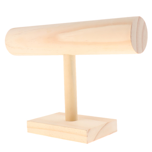 Image 3 - Unfinished Wooden Headband Holder Jewelry Display Stand Rack Organizer Holder for Home Shop Show