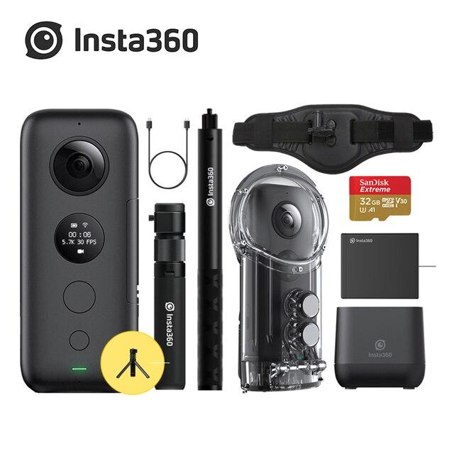 Insta360 MỘT X Máy Ảnh 5.7 K video 18MP ảnh Điều Khiển Thời Gian và Quan Điểm Chỉnh Sửa trên Bay tương thích với Insta 360 MỘT X app