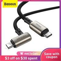 Baseus PD 100W USB C a USB a Cable de tipo C para MacBook iPad Pro carga rápida Carga rápida 4,0 tipo C 3,1 compatible con HDMI Cable