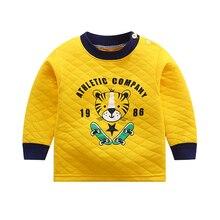 Детская футболка; теплая зимняя Домашняя одежда; топы для новорожденных мальчиков и девочек; футболка; одежда для детей; одежда для малышей