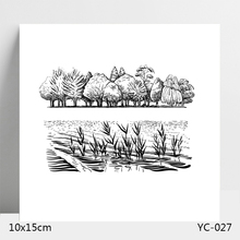 AZSG Tree water and grass  Clear Stamps For DIY Scrapbooking/Card Making/Album Decorative Silicone Stamp Crafts