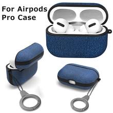 Capa de fone de ouvido para airpods pro, caixa anti derrapante de estampa de pano para airpods 3 bluetooth caixa sem fio do fone de ouvido