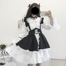 Printemps vêtements 2020 nouveau Style japonais-style femmes robe étudiants Loli jupe jupe Style occidental mignon Lolita robe noir Meng(China)