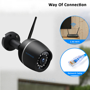 Image 3 - 1080P HD واي فاي كاميرا لاسلكية CCTV IP كاميرا معدنية في الهواء الطلق مراقبة الأمن الأشعة تحت الحمراء للرؤية الليلية اتجاهين الصوت P2P