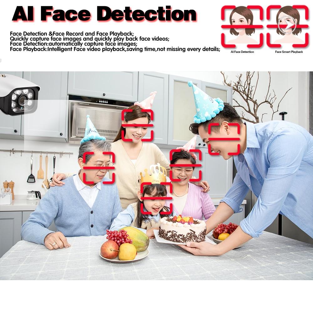 Closeout Deals—Face Detection H.265 4CHPOE 5MP Video Surveillance Kit 4CH NVR CCTV System 5.0MP Weatherproof