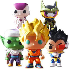 10cm Dragon Ball anime figur Goku Vegeta Zell Piccolo Action figure Puppe Super Saiyan Modell Spielzeug Geschenk(China)