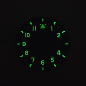Image 4 - 35.5 Mm Volledig Lumed Zwart Groen Pilot Wijzerplaat Spitfire Stijl Fit Miyota8215 DG2813 ETA2824 Beweging Lichtgevende Steriele Wijzerplaat